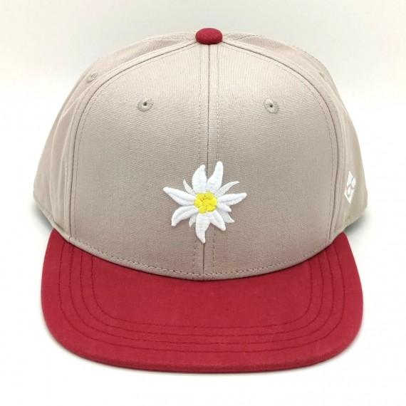 Bavarian Caps Edelweiß Primavera Snapback grau