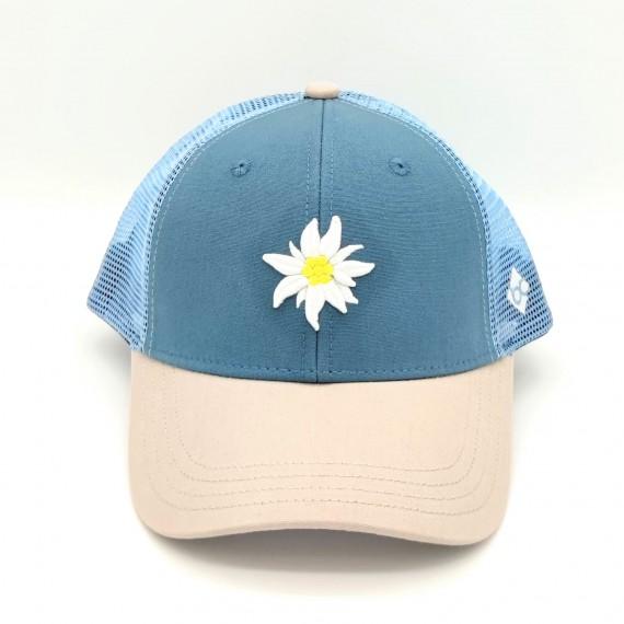Bavarian Caps Edelweiß Sommermesh Snapback blau