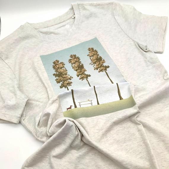 "Bavarian Caps T-Shirt ""Biergartln"" cremegrau unisex"