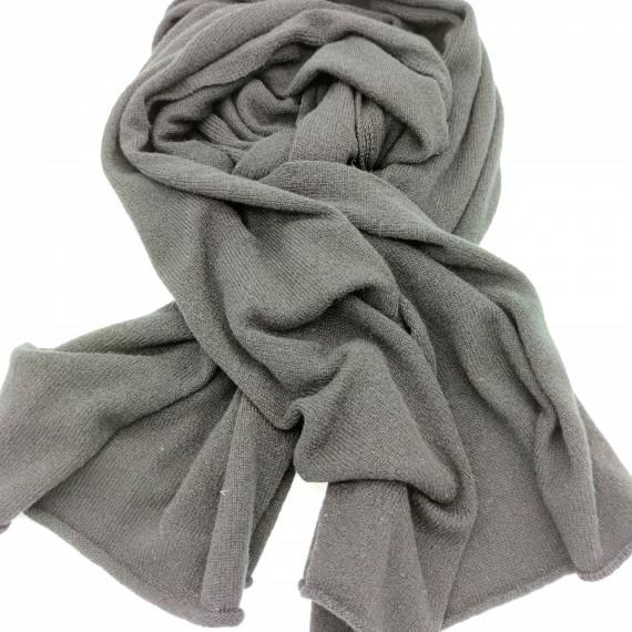 Inverni Cashmere-Schal breit schwarz